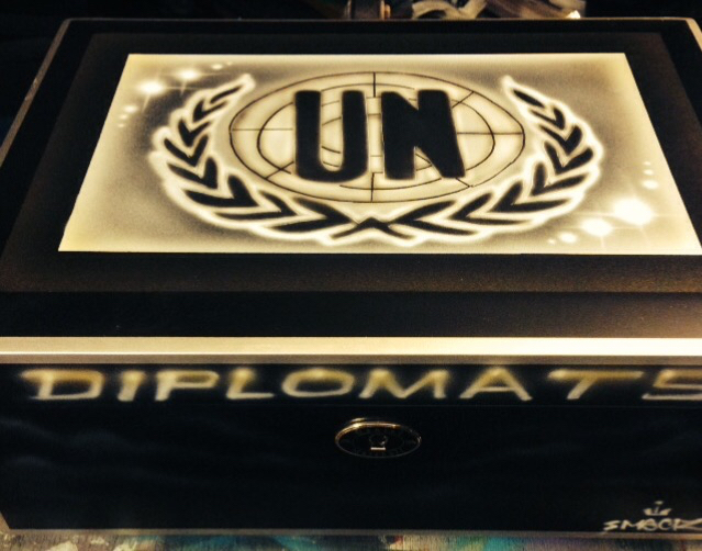 6 DM Custom Airbrushed Humidor for Hip Hop Artist Cam'ron